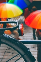 Bike and Umbrellas, Gent, Belgium