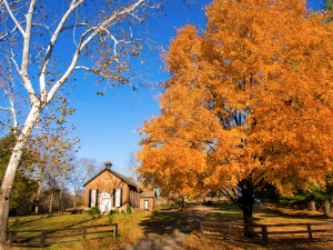 Little Church of Aldie in Fall